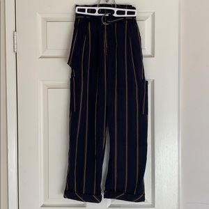 Free People blue stripped trouser pant